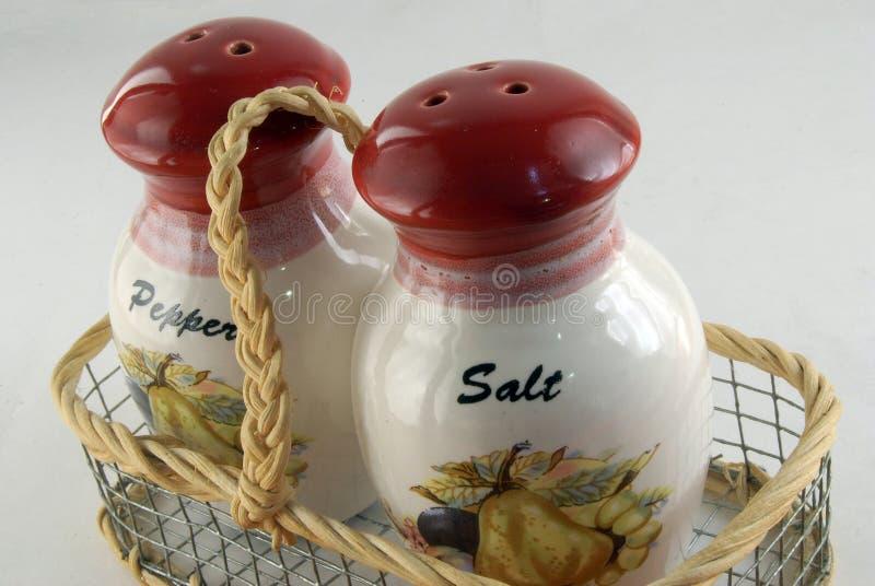 Salz und papper lizenzfreies stockbild