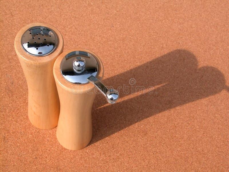 Salz und Pfeffer lizenzfreies stockfoto