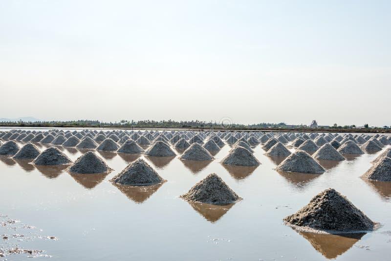 Salz von den Stapel salzig in Thailand stockfotos