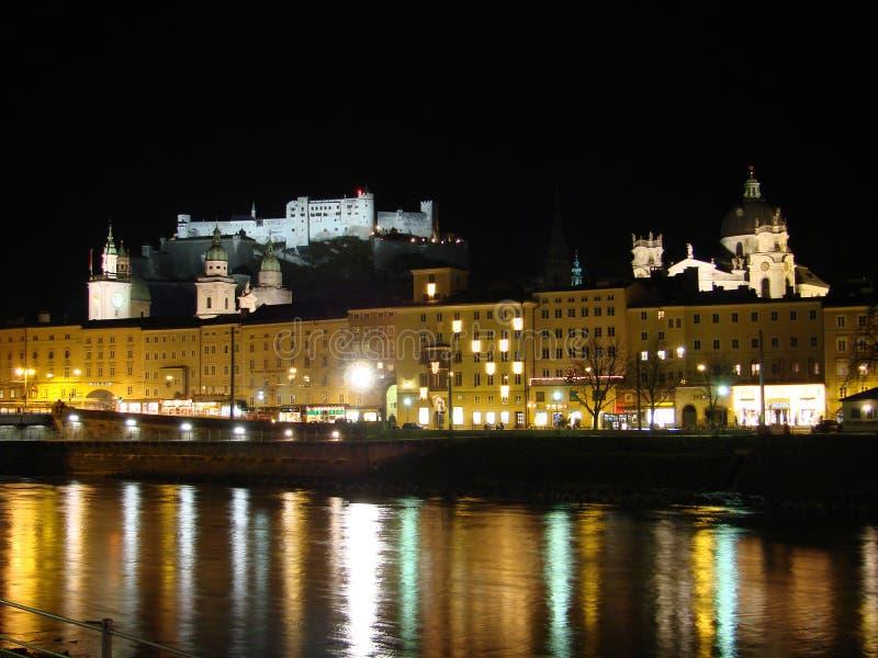 Download Salzach river, Salzburg stock image. Image of illumination - 3398731
