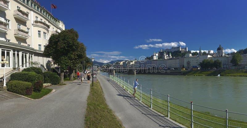 Salzach rzeka Salzburg, Austria - zdjęcia royalty free