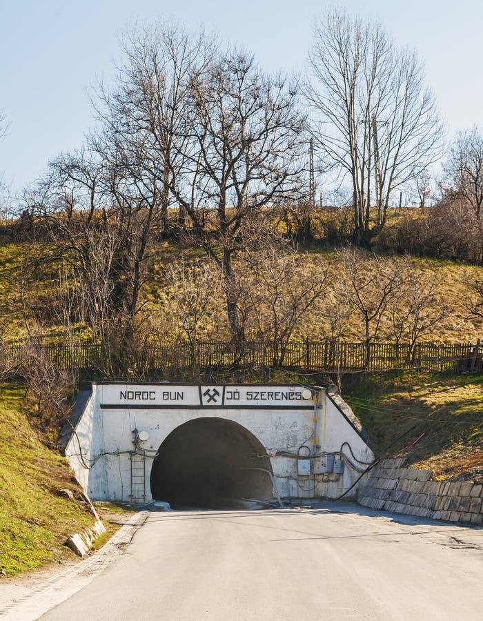 Salzbergwerkeingang von Praid lizenzfreies stockfoto
