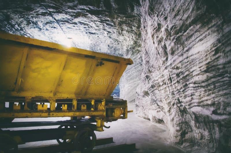 Salzbergwerkinnere stockfoto