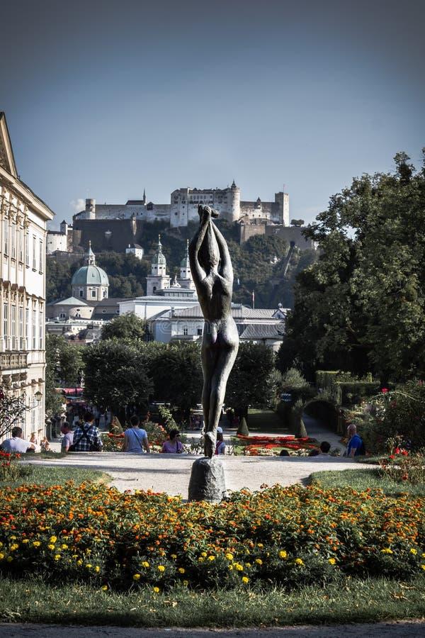 Salzbourg est un endroit étonnant images libres de droits