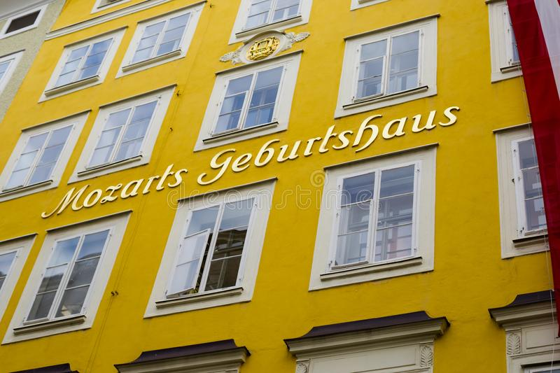 House-Museum of the composer Amadeus Mozart. stock photography
