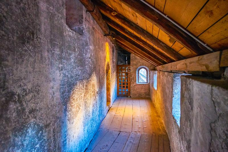 Inside catacombs of Salzburg, Austria royalty free stock photography