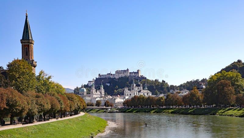 Salzburg, Austria, miejsce narodzin kompozytor, Mozart obrazy royalty free