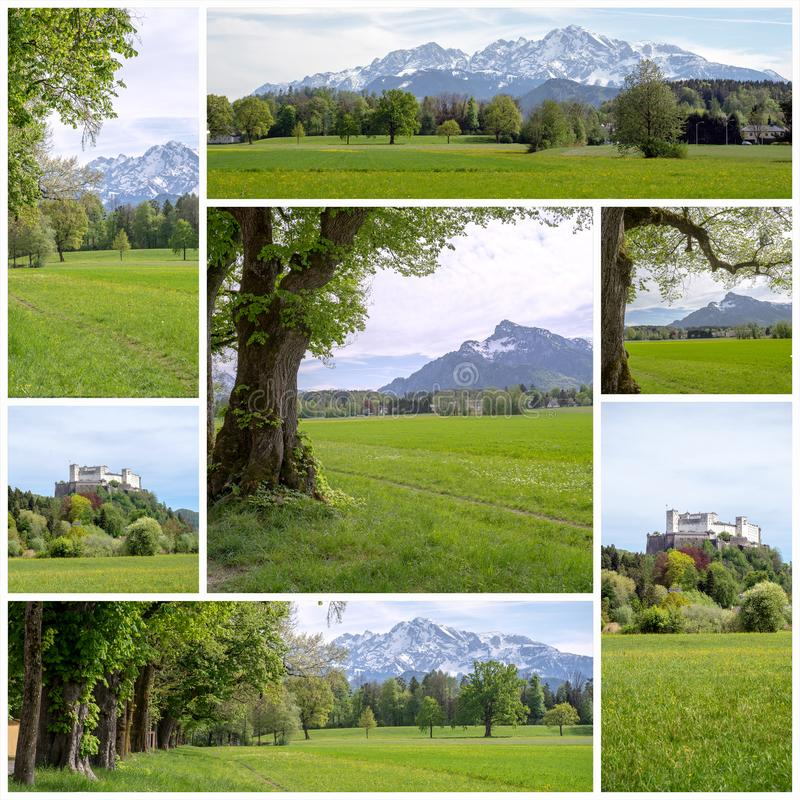 Salzburg Landscape - Collage 1 royalty free stock images