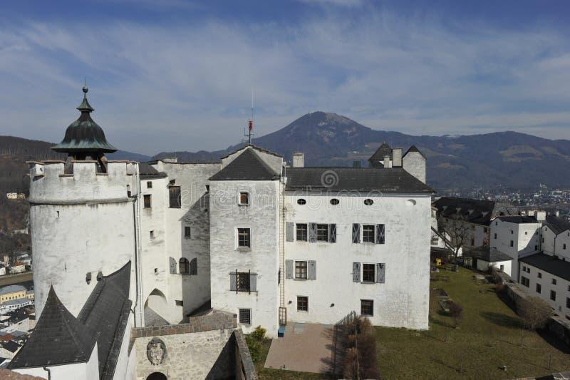 Salzburg, Castle. Castle Hohensalzburg in Salzburg, Austria, Europe stock image