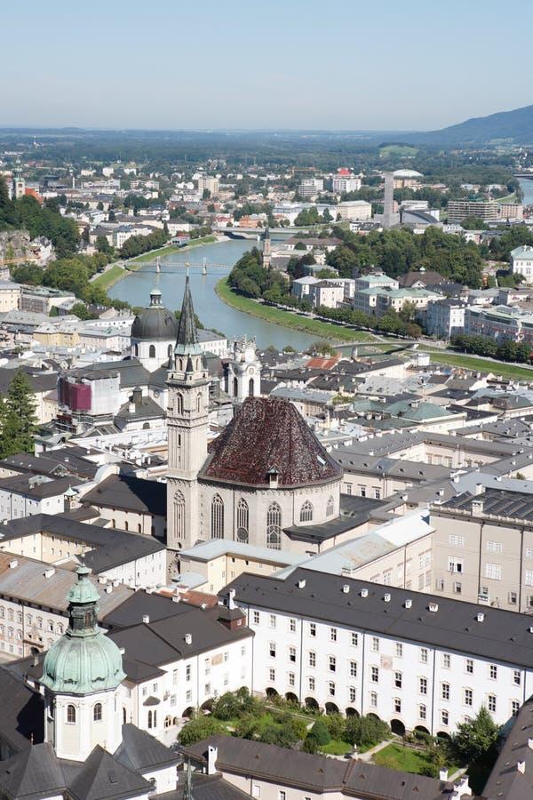 salzburg centrum dziejowy panoramiczny widok fotografia royalty free