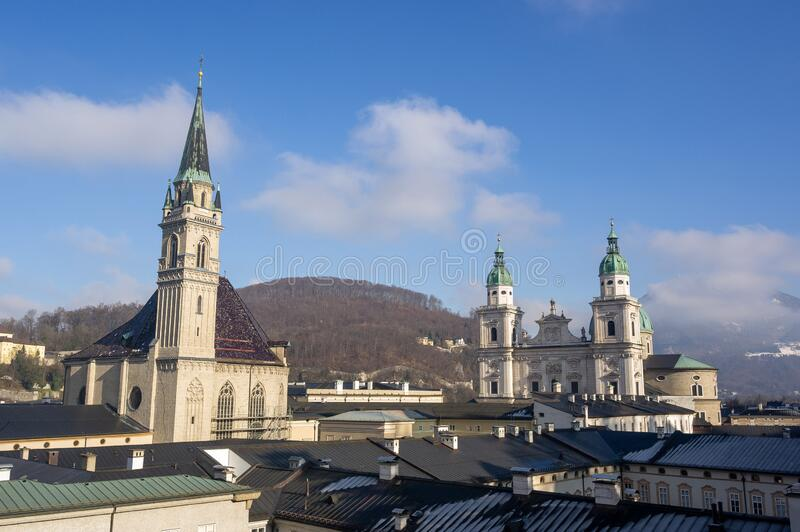 Salzburg Church and City royalty free stock photography