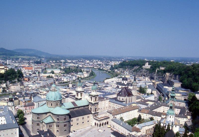 Salzburg city. View on Salzburg city - Austria stock photography