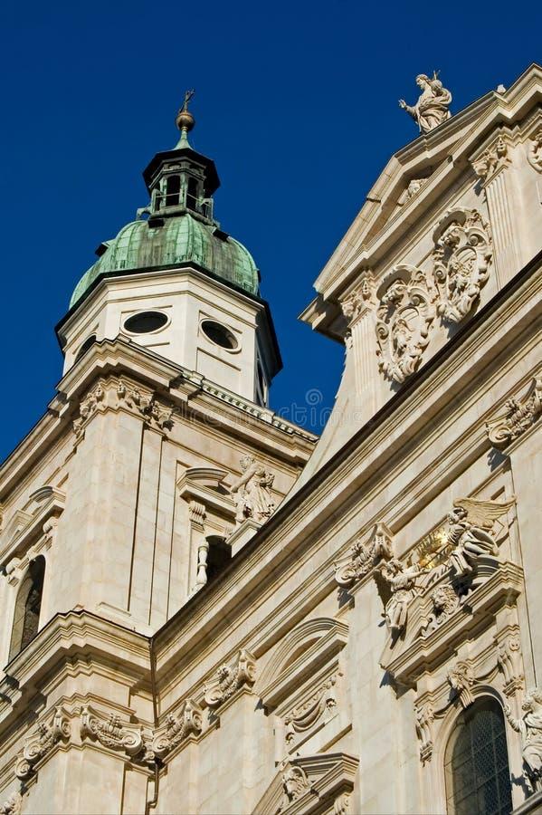 Salzburg Dom stock photography