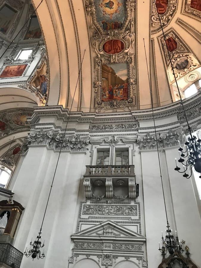 Salzburg domkyrka arkivfoto