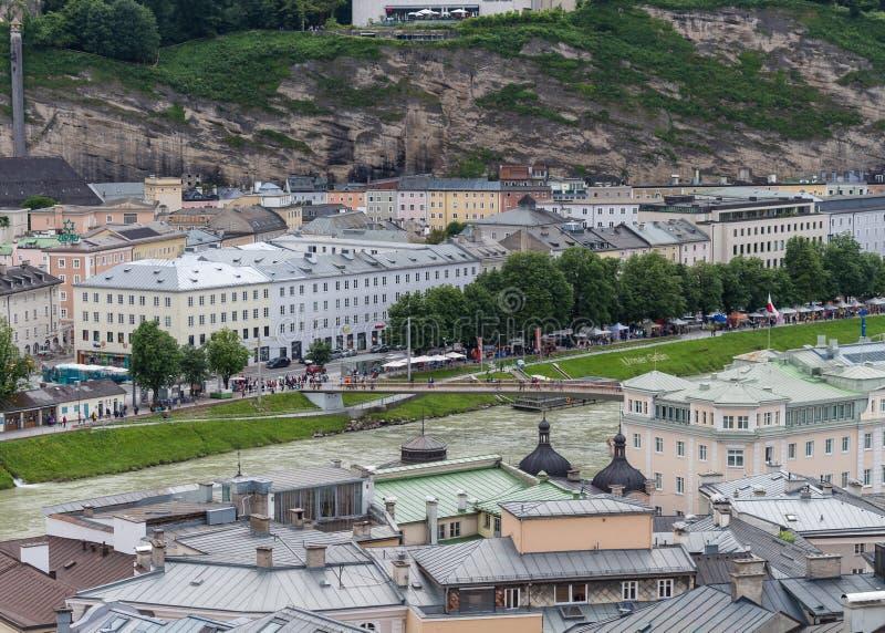 Salzburg en las montañas Austria fotografía de archivo libre de regalías