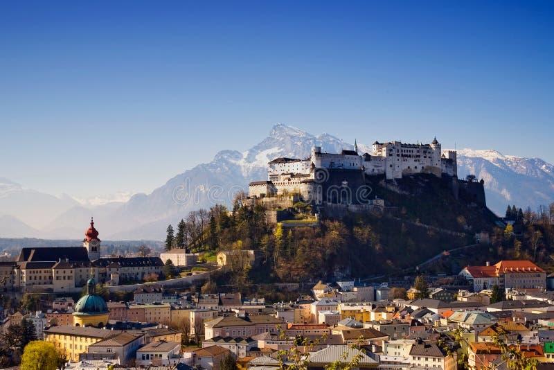 Salzburg-Festung lizenzfreie stockbilder