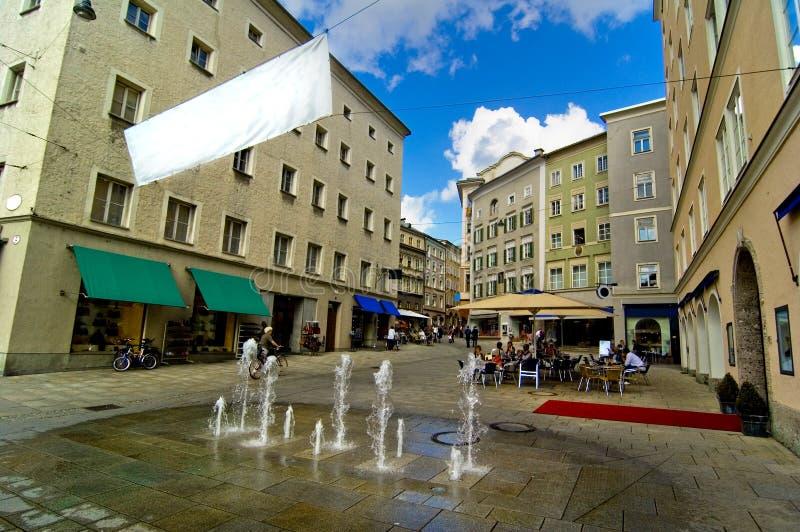 Salzburg fontanny wody zdjęcie royalty free