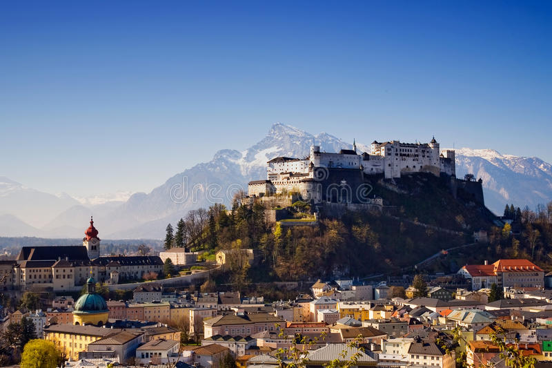 Salzburg Fortress royalty free stock images
