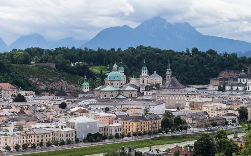 Salzburg hermosa en Austria fotos de archivo