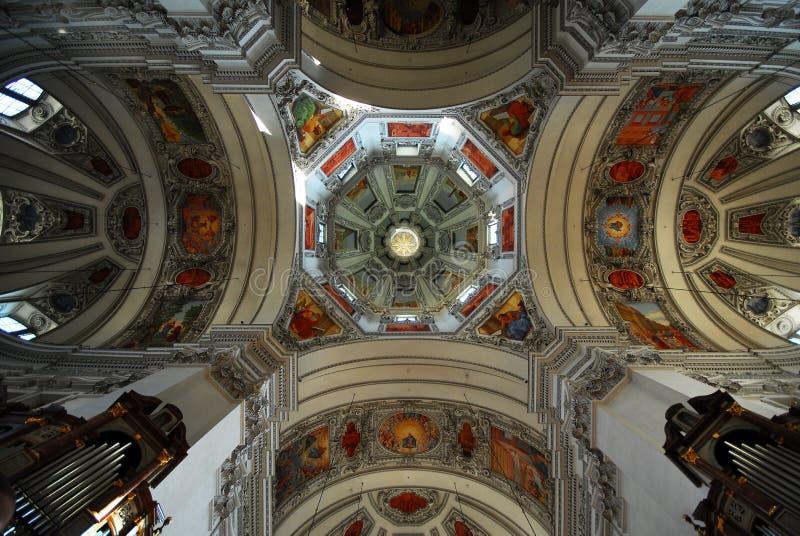 Salzburg-Kathedrale, Österreich stockfotos