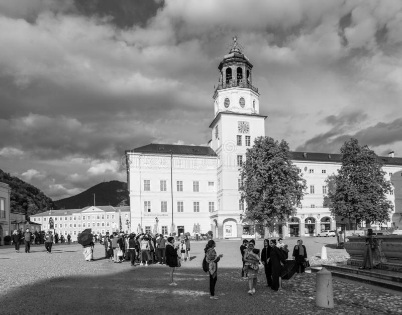 Salzburg-Kathedrale am Nachmittag lizenzfreies stockbild