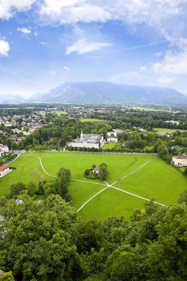 Salzburg land. View from Austrian region Tirol, Salzburg land royalty free stock image