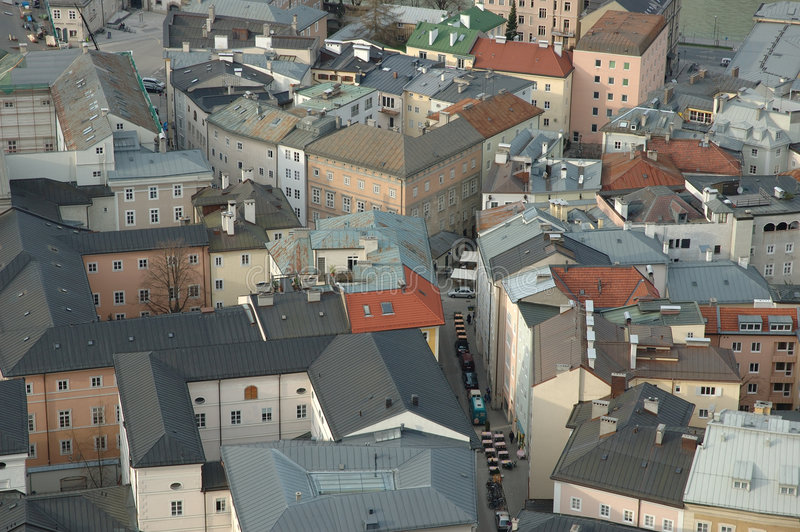 Download Salzburg, Mozarts town stock image. Image of aerial, church - 103899