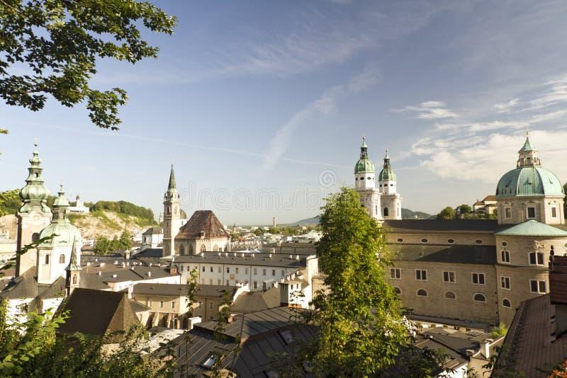 Salzburg no alvorecer imagem de stock