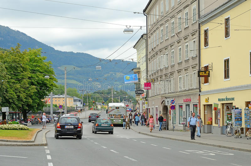 Salzburg, Oostenrijk. Redactionele Fotografie