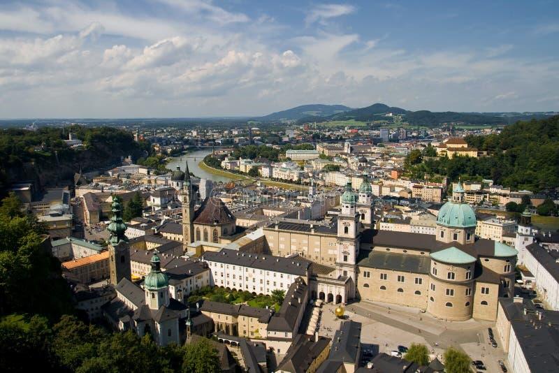 Download Salzburg panorama stock photo. Image of domes, urban - 22041894