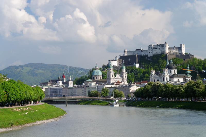 Salzburg Panoramic View royalty free stock images