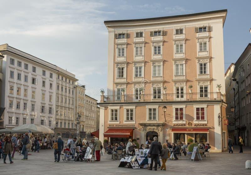 Salzburg in Pasen royalty-vrije stock afbeeldingen