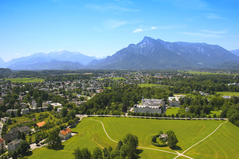 Salzburg Province View Royalty Free Stock Image