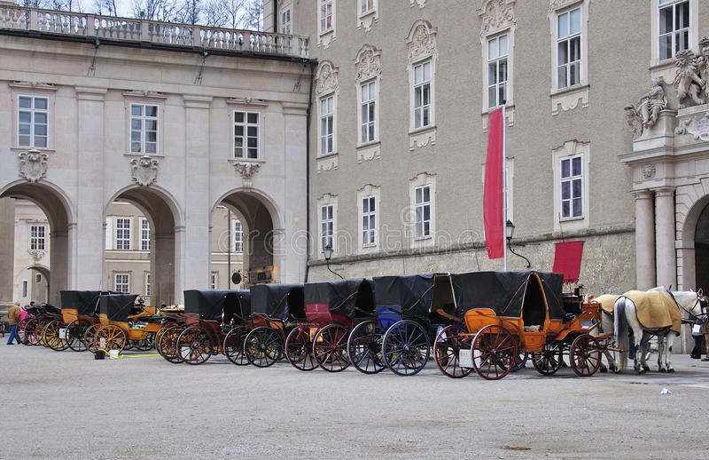 Salzburg-Reiten stockbild