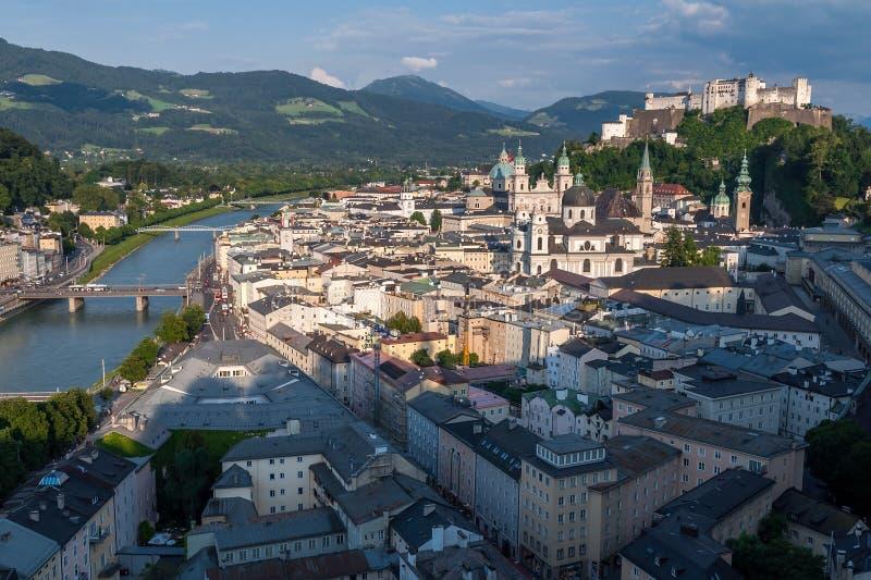 Salzburg. View of Salzburg in Austria, Europe stock images