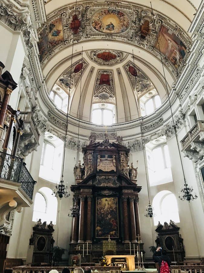 Salzburg Cathedral (German: Salzburger Dom) royalty free stock images