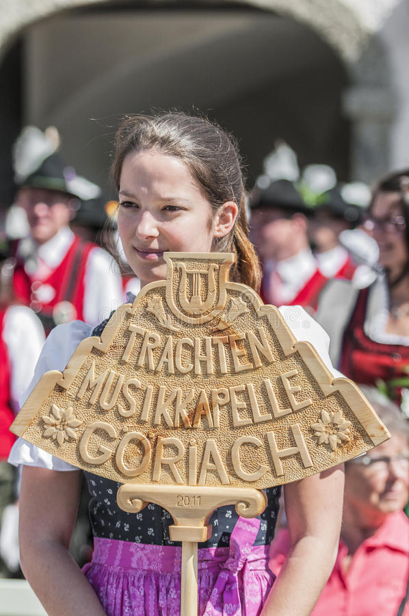 Salzburger Dult Festzug at Salzburg, Austria. SALZBURG, AUSTRIA - MAY 26: Salzburger Dult Festzug parade celebration on May 26, 2012 in Salzburg, Austria stock images