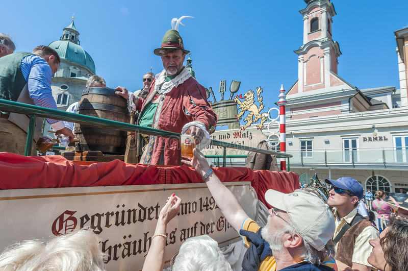 Salzburger Dult Festzug at Salzburg, Austria. SALZBURG, AUSTRIA - MAY 26: Salzburger Dult Festzug parade celebration on May 26, 2012 in Salzburg, Austria stock photos
