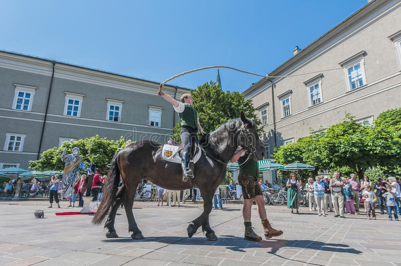 Salzburger Dult Festzug at Salzburg, Austria. SALZBURG, AUSTRIA - MAY 26: Salzburger Dult Festzug parade celebration on May 26, 2012 in Salzburg, Austria stock photography