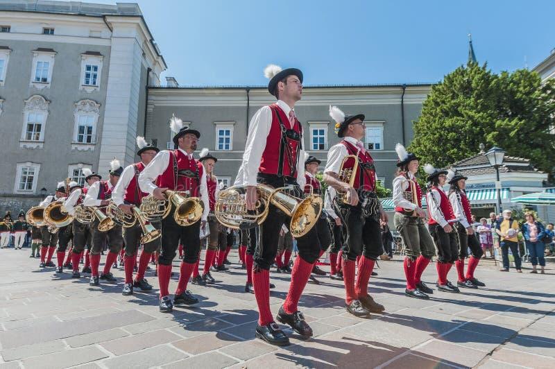 Salzburger Dult przy Salzburg Festzug, Austria zdjęcie royalty free
