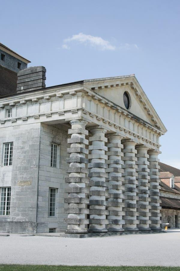 Salziges Royale im Bogen und in Senans Historisches Gebäude gemacht von Claude-Nicolas Ledoux-Architekten, im Bogen und in Senas  lizenzfreies stockbild