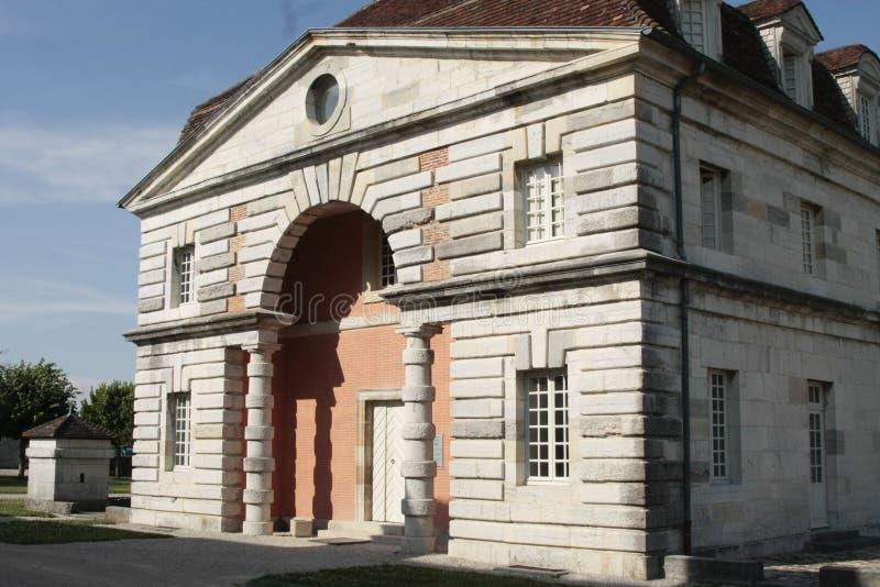 Salziges Royale im Bogen und in Senans Historisches Gebäude gemacht von Claude-Nicolas Ledoux-Architekten, im Bogen und in Senas  lizenzfreie stockfotografie
