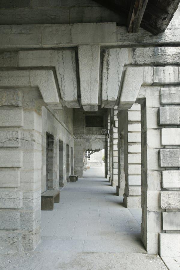Salziges Royale im Bogen und in Senans Historisches Gebäude gemacht von Claude-Nicolas Ledoux-Architekten, im Bogen und in Senas  lizenzfreies stockfoto