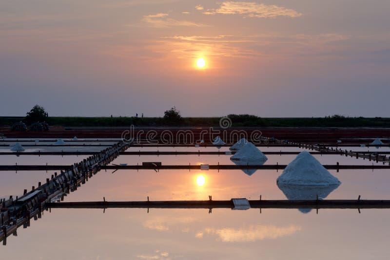 Salzpfanne in Tainan lizenzfreie stockfotografie