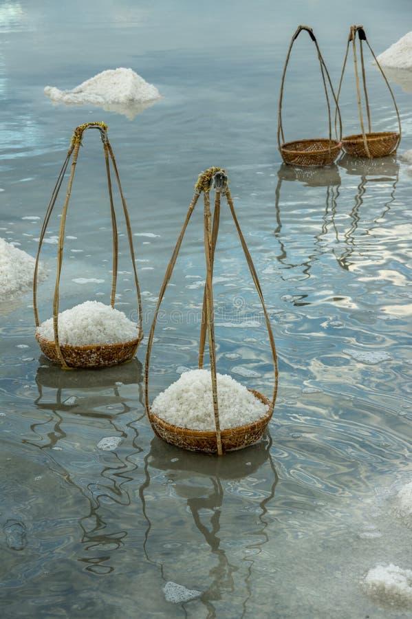 Salzproduktion, Salz verarbeitete part2 lizenzfreie stockfotografie