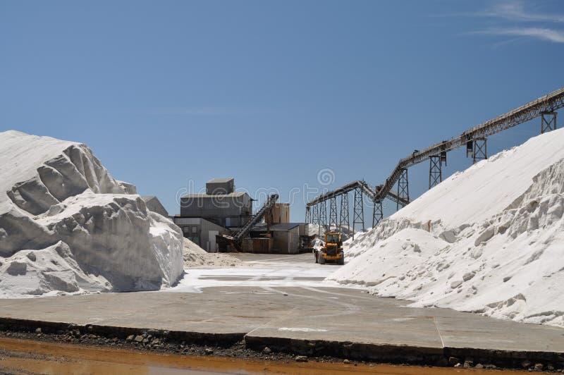 Salzproduktionsanlage lizenzfreie stockfotos