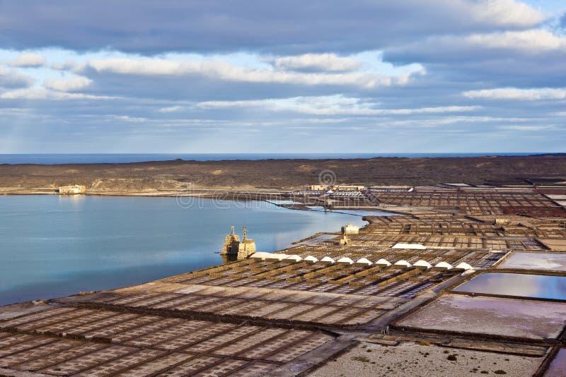 Salzraffinerie, salzig von Janubio stockfotos