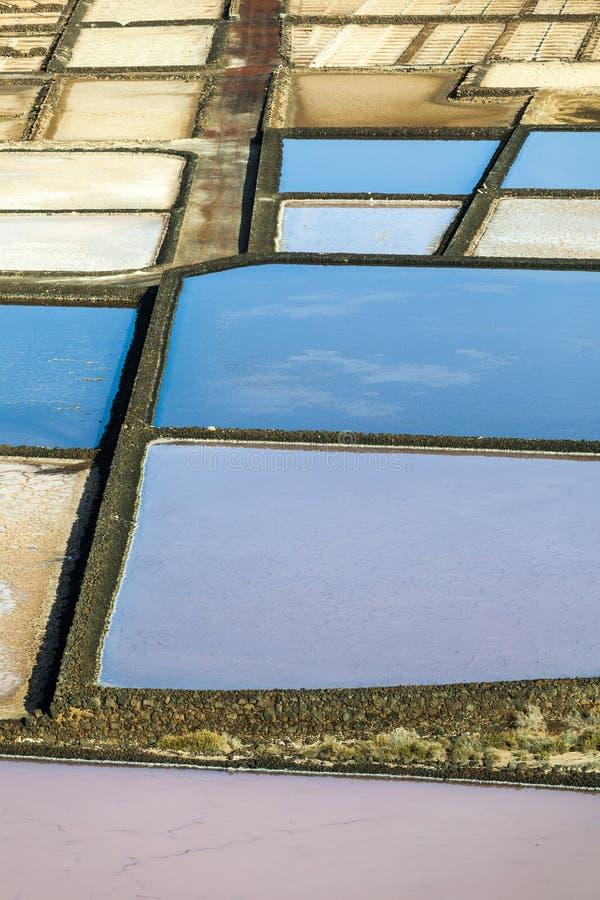 Salzraffinerie, salzig von Janubio, Lanzarote stockfoto