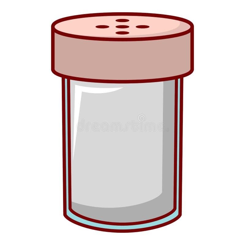 Salzschüttel-apparatikone, Karikaturart lizenzfreie abbildung