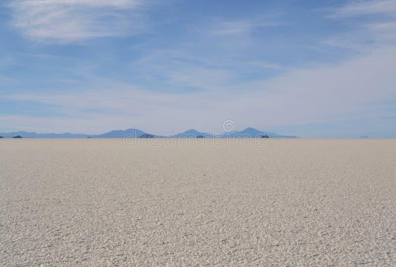 Salzwüste, Salar de Uyuni in Bolivien stockbilder